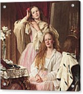 Portrait Of Emma And Frederica Bankes Acrylic Print