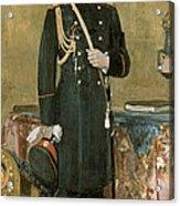 Portrait Of Emperor Nicholas II 1868-1918 1895 Oil On Canvas Acrylic Print