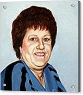 Portrait Of Essie Simon  Acrylic Print