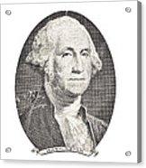Portrait Of George Washington On White Background Acrylic Print