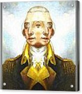 Portrait-of-george Washington Vert  2  Acrylic Print