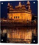 Portrait Of Golden Temple At Night Acrylic Print
