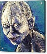 Portrait Of Gollum Acrylic Print