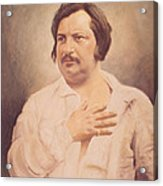 Portrait Of Honore De Balzac Acrylic Print