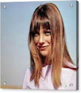 Portrait Of Jane Birkin Acrylic Print