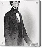 Portrait Of Jefferson Davis Acrylic Print