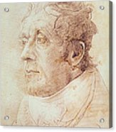 Portrait Of Jmw Turner Acrylic Print by Cornelius Varley