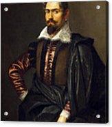 Portrait Of Kaspar Scioppius Acrylic Print