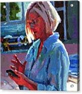 Portrait Of Kelly Acrylic Print by Douglas Simonson