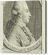 Portrait Of King Gustav IIi Of Sweden, Cornelis Van Noorde Acrylic Print
