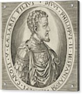Portrait Of King Philip II Of Spain, Frans Huys Acrylic Print
