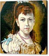 Portrait Of Little Girl Acrylic Print