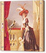 Portrait Of Louise-elisabeth De France 1727-59 Duchess Of Parma And Her Son Ferdinand 1751-1802 Acrylic Print