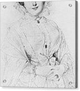 Portrait Of Madame Ingres Acrylic Print