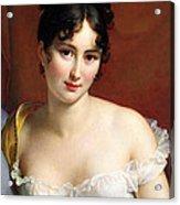 Portrait Of Madame Recamier  Acrylic Print
