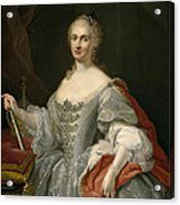 Portrait Of Maria Amalia Of Saxony As Queen Of Naples Overlooking The Neapolitan Crown Acrylic Print