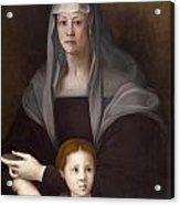 Portrait Of Maria Salviati De' Medici With Giulia De' Medici Acrylic Print