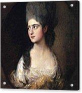 Portrait Of Miss Elizabeth Linley  Later Mrs Richard Brinsley Sheridan Acrylic Print