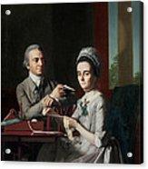 Portrait Of Mr And Mrs Thomas Mifflin Acrylic Print