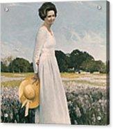 Portrait Of Mrs Lyndon B Johnson Acrylic Print by Mountain Dreams
