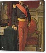 Portrait Of Napoleon IIi 1808-73 1862 Oil On Canvas Acrylic Print