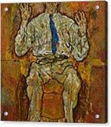 Portrait Of Paris Von Gutersloh Acrylic Print by Egon Schiele