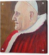 Portrait Of Pope John Xxiii - Papa Giovanni Xxiii Acrylic Print by Mario Zampedroni