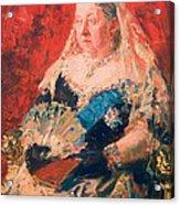 Portrait Of Queen Victoria Acrylic Print