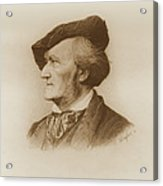 Portrait Of Richard Wagner German Acrylic Print