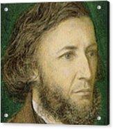 Portrait Of Robert Browning Acrylic Print