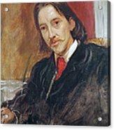 Portrait Of Robert Louis Stevenson 1850-1894 1886 Oil On Canvas Acrylic Print