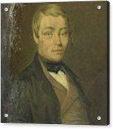 Portrait Of Rudolf Johannes Van Den Brink Acrylic Print