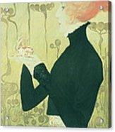 Portrait Of Sarah Bernhardt Acrylic Print by Manuel Orazi