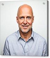 Portrait of senior businessman smiling Acrylic Print