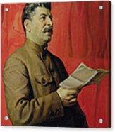 Portrait Of Stalin Acrylic Print