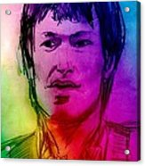 Rainbow Portrait Of Stevie Winwood Acrylic Print