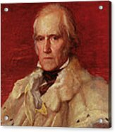 Portrait Of Stratford Canning 1786-1880, Viscount Stratford De Redcliffe 1856-7 Oil On Canvas Acrylic Print