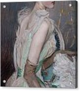 Portrait Of The Countess De Leusse Acrylic Print