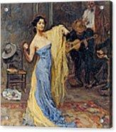 Portrait Of The Dancer Anna Pawlowa Acrylic Print