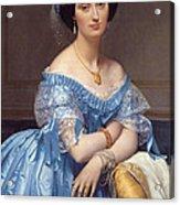 Portrait Of The Princesse De Broglie Acrylic Print