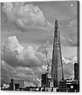 Portrait Of The Shard Black And White Version Acrylic Print