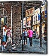 Portrait Of The Street Musician Sketch  Acrylic Print