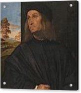 Portrait Of The Venetian Painter Giovanni Bellini Acrylic Print