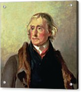 Portrait Of Thomas Jefferson Acrylic Print