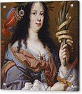 Portrait Of Vittoria Della Rovere As Saint Vittoria Acrylic Print