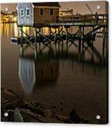 Portsmouth Harbor Night 1 Acrylic Print