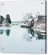Portsmouth In Winter Acrylic Print