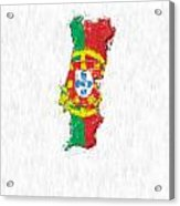 Portugal Painted Flag Map Acrylic Print