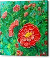 Posie In Red Acrylic Print