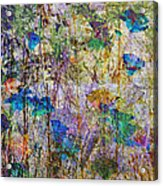 Posies In The Grass Acrylic Print